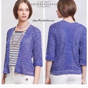anthropologie sparrow blue cardigan